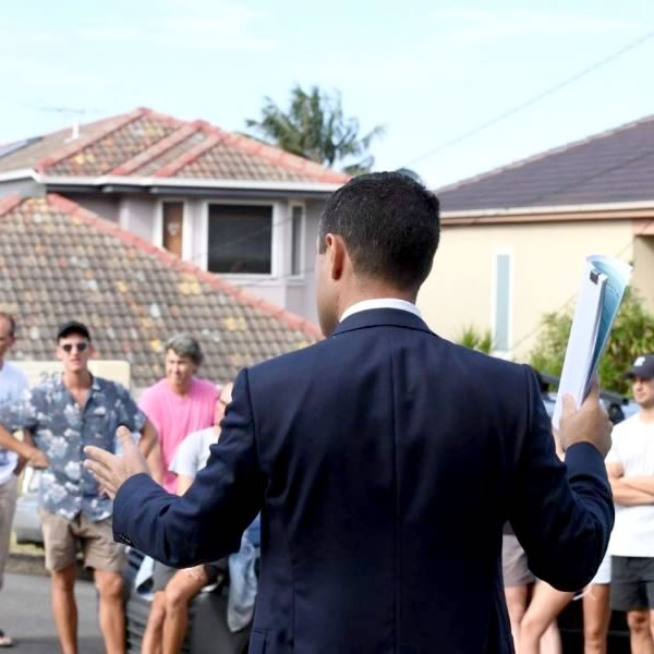 Bidding for residential property at auction